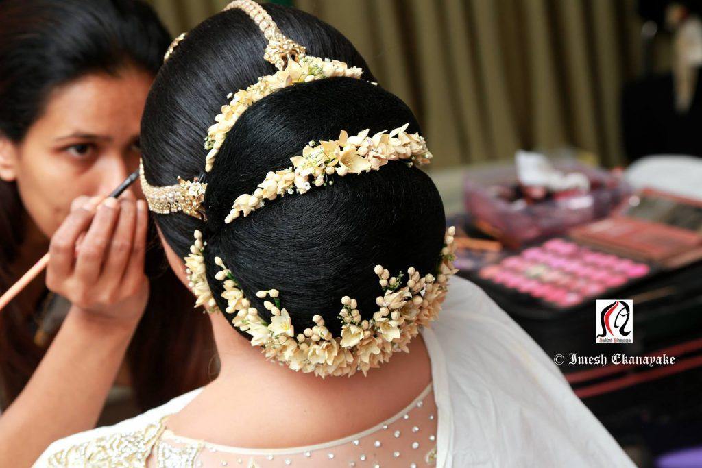 Kandyan Bridal Hairstyle Side Part Picswe